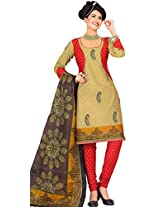 atisundar admirable Red And Cream Traditional Cotton Printed Salwar Suit- 4330_39_5041