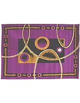 Agra Dari Woolen Rug - 14'' x 24'' x 0.4'', Purple