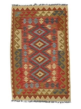 eCarpet Gallery One-of-a-Kind Anatolian Kilim Rug, Camel/Red, 3' 3