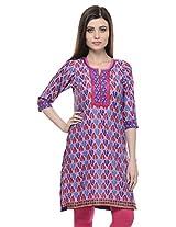 MYRA Purple Cotton Kurti For Women MYRA056