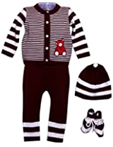 Amity Anchor Kids Warm Wear Set (AA14-15243_0-3 Months_Red)