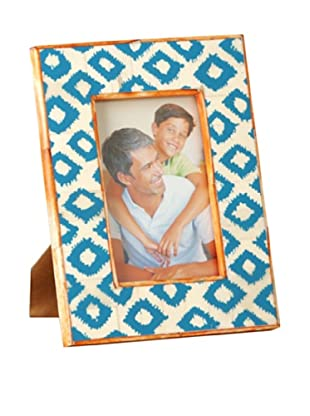 Shiraleah Painted Bone Picture Frame (Turquoise)