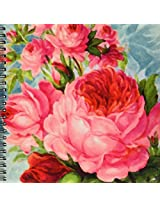 3dRose db_60597_1 English Roses Watercolor Drawing Book, 8 by 8-Inch