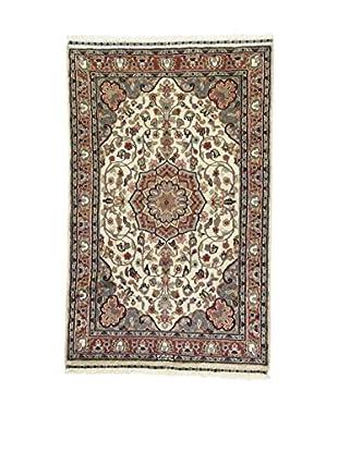 L'Eden del Tappeto Teppich Kashmirian F/Seta beige/grau/braun 147t x t92 cm