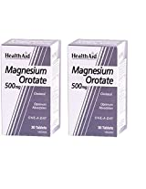 HealthAid Magnesium orotate 30 tablets high absorption Combo pack 2 bottles