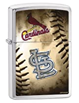 Zippo Pocket Lighter MLB St Louis Cardinals Brushed Chrome Pocket Lighter