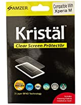 Amzer 95926 Kristal Clear Screen Protector for Sony Xperia M Dual, Sony Xperia M