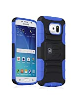 Galaxy S6 Case - KAYSCASE Heavy-Duty Belt Clip Dual-layer ArmorHolster Hybrid Cover Case for the Samsung Galaxy S6 Smart Phone 2015 Version (Lifetime Warranty) (Blue)