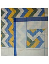 Double Cot Bed Sheet - Pochampally Ikat Mercerized Cotton