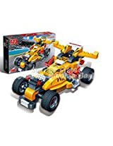 BanBao Building Blocks Racer Pull Back Action Car Bricks-- Monster 8609
