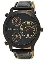 Giordano Chronograph Multi-Colored Dial Men's Watch - 60068 Black/Yellow