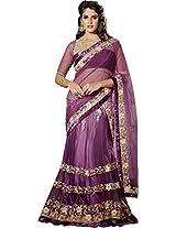 Light Magenta Wedding Wear Resham Emboridery Stone Work Bollywood Designer Lehenga Choli