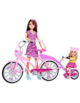 Barbie Sisters Bike for Two Doll, Multi Color (Pack of 2)