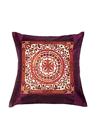 Mela Artisans Gaya Cushion Cover (Burgundy)