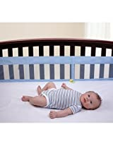 Simply Baby by NOJO Secure-Me Crib Liner-Blue