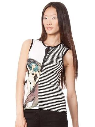 Custo T-Shirt (Weiß/Schwarz)