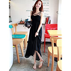 OnlyUrs Splicing Chiffon Maxi Sleeveless Dress