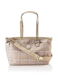 Coach Signature Plaid Baby Bag, Multi
