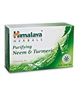 Himalaya Herbal Healthcare Purifying Neem and Turmeric Cleansing Bar, 4.41 Ounce