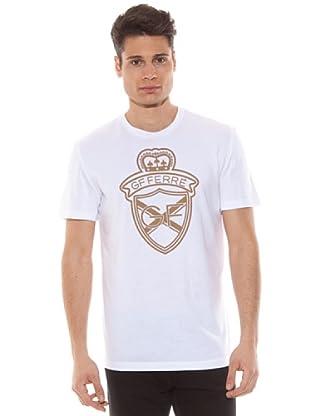 Gianfranco Ferré Camiseta Estampado Logo (Blanco)