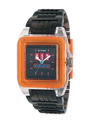 BY BASI A1000U01 - Reloj Unisex movi cuarzo correa policarbonato negro/naranja