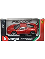 Bburago Ferrari 458 Italia Scale-1:43 Die Cast Toy Car (Red)