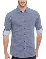 SPYKAR Men Cotton Blue Casual Shirt (XX-Large)