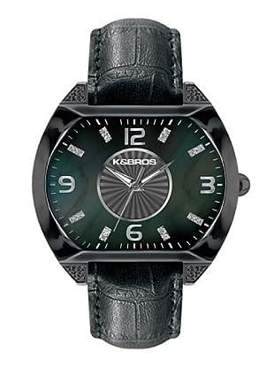 K&BROS 9160-1 / Reloj de Señora  con correa de piel negro