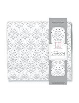 SwaddleDesigns Muslin Swaddle Blanket, Lilli, Sterling