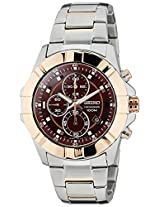 Seiko Lord Chronograph Red Dial Men's Watch - SNDG54P1