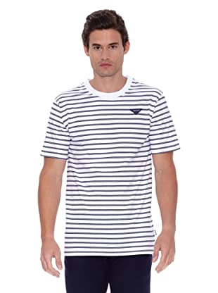 Privata Camiseta Joel (Blanco / Marino)