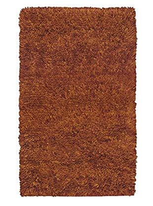Hand-Knotted Plateau Shag, Brown, 2' 11