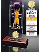 Kobe Bryant Ticket and Bronze Coin Desktop Acrylic