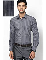Black Striped Formal Shirt John Players