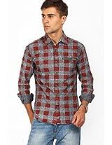 Checks Brown Casual Shirt