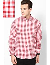 Red Full Sleeve Casual Shirt Peter England