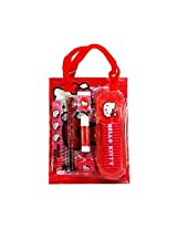 Hello Kitty PVC Bag Stationery Set for Girls - Red