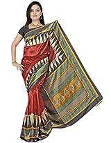 Kothari Printed Saree (KT0117MB_Maroon)