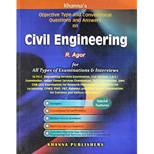 Civil Engineering: Objective Type and Conventional Questions and Answer