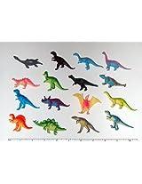 """~ 12 ~ Mini Dinosaur Figures ~ Hard Plastic- 2""""-3""""~ NEW"""