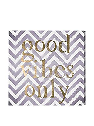 Oliver Gal 'Good Vibes Only Violet' Canvas Art
