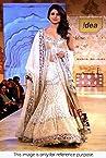Bollywood Replica Priyanka Chopra Net and Velvet Lehenga In Off White Colour 1280 - Lehnga by nInecolours