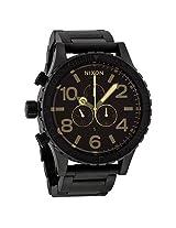 Nixon 51-30 Chrono Matte Black Men'S Watch - Nxa0831354