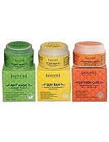 Sattvik Organics Summersplash Combo Plus (Mint Magic 100Gm, Sun Ban 100Gm, Saffron Care 100Gm)