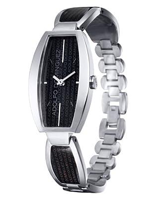 Adolfo Dominguez Watches 69097 - Reloj de Señora cuarzo brazalete metálico dial Negro