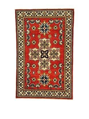 L'EDEN DEL TAPPETO Alfombra Uzebekistan Super Rojo/Multicolor 96 x 150 cm
