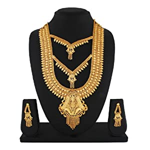 Smart Heavy 1Gm Gold Plated Necklace Set