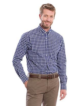Cortefiel Camisa Vichy (Azul Marino)