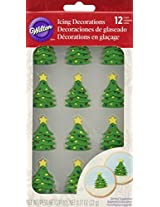 Wilton 710-3468 12 Count Christmas Tree Royal Icing Decorations