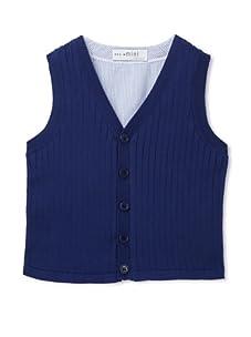 Simonetta Boys Vest (White/Blue)